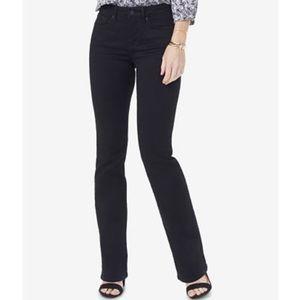 NWT NYDJ Barbara Bootcut Black Jeans A7